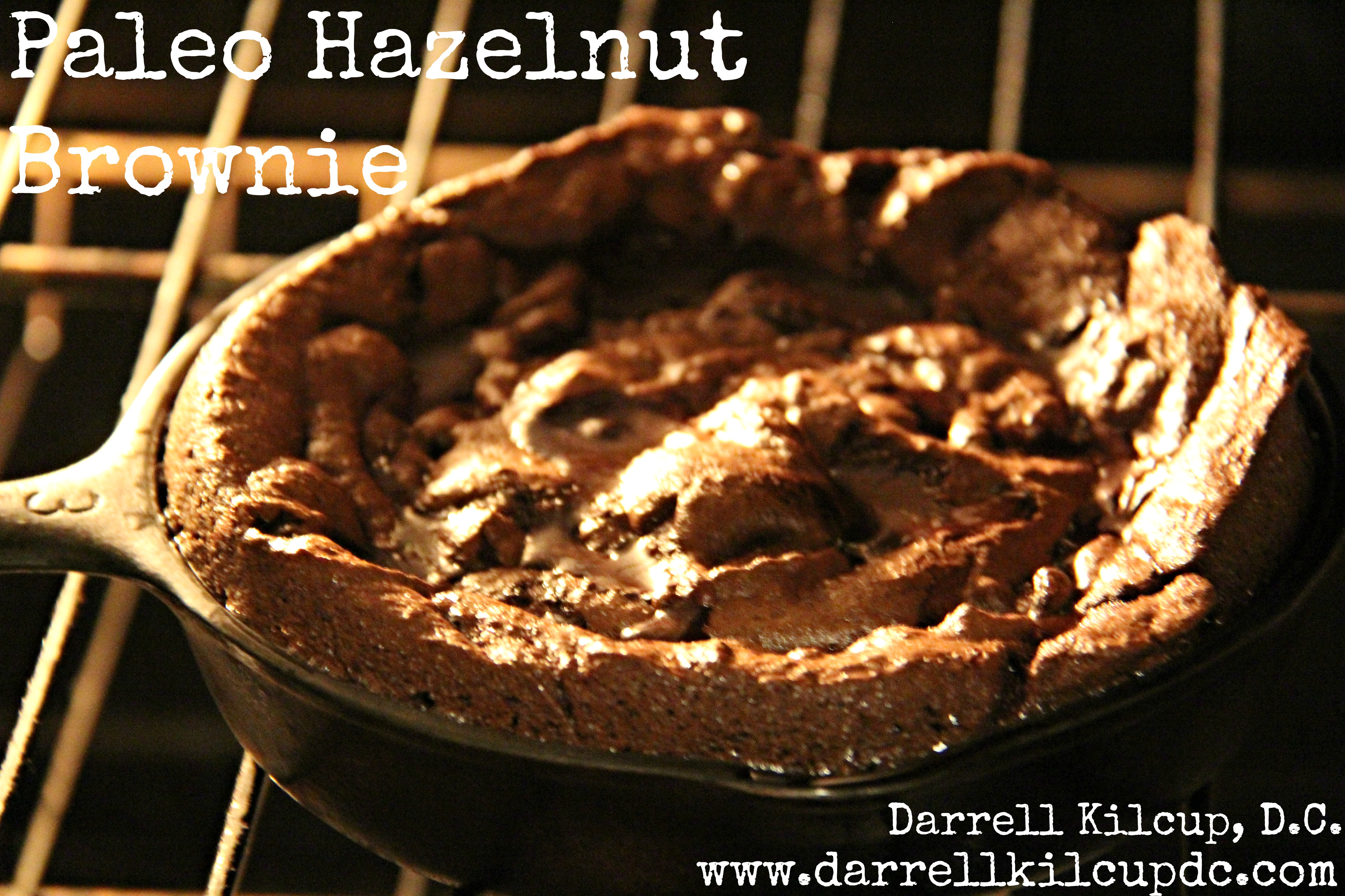 Heavenly Hazelnut Brownie for Two | Paleo | Gluten Free | Refined Sugar Free