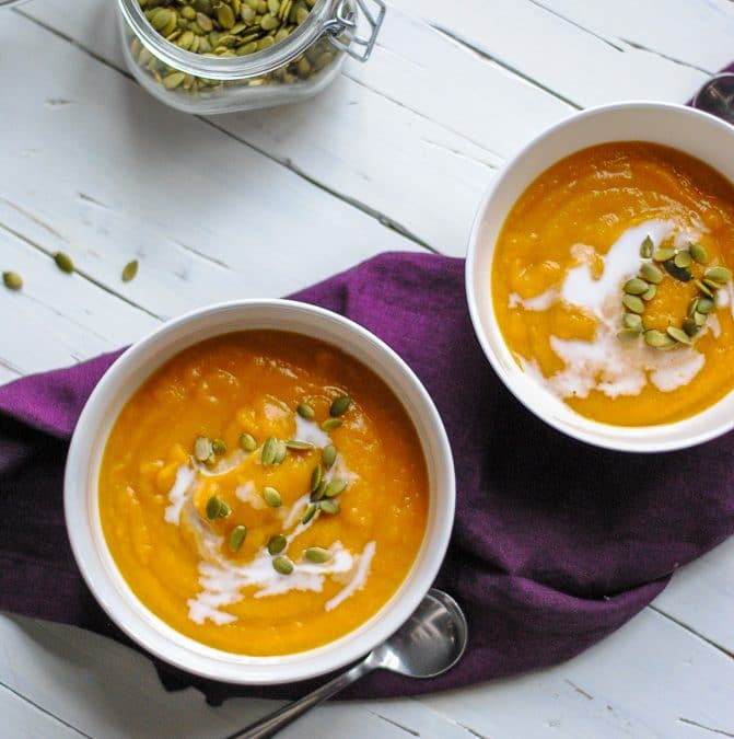 How to make a Healthy Curried Butternut Squash Soup